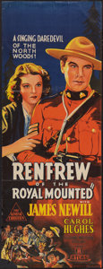"Movie Posters:Action, Renfrew of the Royal Mounted (Atlas, 1937). Australian Pre-WarDaybill (15"" X 40""). Action.. ..."