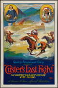 """Movie Posters:Western, Custer's Last Fight (Quality Amusement, R-1925). One Sheet (27"""" X 41"""") Flat Folded. Western.. ..."""