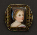 Estate Jewelry:Brooches - Pins, Early Victorian Portrait Pin. ...