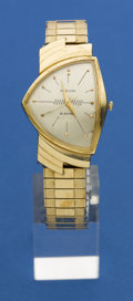 Timepieces:Wristwatch, Hamilton Gold Ventura Missing The Back. ...
