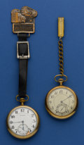 Timepieces:Pocket (post 1900), Two Burlington's 21 Jewel 16 Size Pocket Watches Runners. ... (Total: 2 Items)