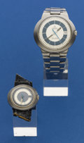 Timepieces:Wristwatch, Omega Lady & Gent's Steel Dynamic Wristwatches. ... (Total: 2Items)