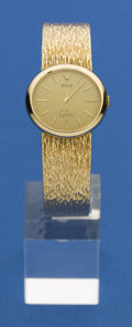 Timepieces:Wristwatch, Rolex Lady's 14k Gold Cellini. ...
