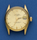 Timepieces:Wristwatch, Rolex Ref. 6624 Mid-Size Gold Oyster Perpetual Date. ...