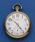 Timepieces:Pocket (post 1900), Illinois 21 Jewel 16 Size Pocket Watch. ...