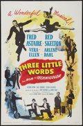 "Movie Posters:Musical, Three Little Words (MGM, 1950). One Sheet (27"" X 41""). Musical.. ..."