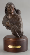 Sculpture, GLENNA GOODACRE (American, b. 1939). Study for Angelina . Bronze with patina. 13 inches (33.0 cm) including base. Ed. 9/...