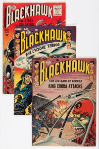 Blackhawk Group (Quality, 1952-56) Condition: Average GD/VG.... (Total: 19 Comic Books)