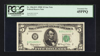 Fr. 1966-B* $5 1950E Federal Reserve Note. PCGS Extremely Fine 45PPQ