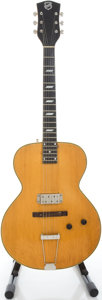 Musical Instruments:Electric Guitars, 1940's National Natural Archtop Electric Guitar, Serial # 431G....