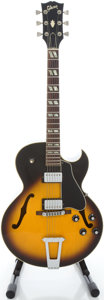 Musical Instruments:Electric Guitars, 1977 Gibson ES-175D Sunburst Semi-Hollow Body Electric Guitar,Serial # 06103122....