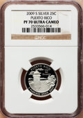 Proof Statehood Quarters, 2009-S 25C Puerto Rico Silver PR70 Ultra Cameo NGC. NGC Census:(0). PCGS Population (444). Numismedia Wsl. Price for prob...