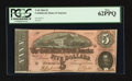 Confederate Notes:1864 Issues, Dark Red Tint T69 $5 1864.. ...