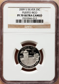 Proof Statehood Quarters, 2009-S 25C Puerto Rico, Silver PR70 Ultra Cameo NGC. NGC Census:(0). PCGS Population (445). Numismedia Wsl. Price for pro...