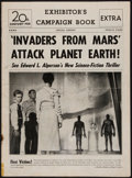 "Movie Posters:Science Fiction, Invaders from Mars (20th Century Fox, 1953). Pressbook (12 Pages,11"" X 15""). Science Fiction.. ..."
