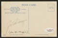 Baseball Collectibles:Others, Joe DiMaggio Signed Postcard....