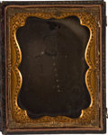 Photography:Ambrotypes, Quarter Plate Ambrotype of Private Morris Delmas of the 27thMississippi....