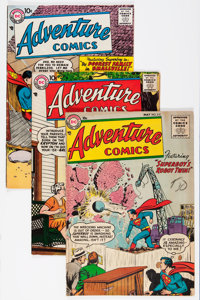 Adventure Comics Group (DC, 1955-58) Condition: Average VG+.... (Total: 4 Comic Books)