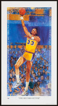 Basketball Collectibles:Others, Kareem Abdul Jabbar Signed Lithograph....