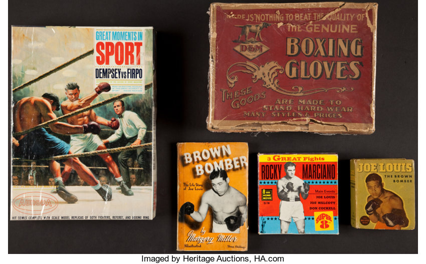 Boxing Collectibles:Memorabilia, Vintage Boxing Memorabilia Lot of 5.