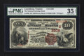 National Bank Notes:Virginia, Lynchburg, VA - $10 1882 Brown Back Fr. 490 The National ExchangeBank Ch. # (S)2506. ...