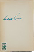 Autographs:U.S. Presidents, Herbert Hoover Signed Copy of The Problems of LastingPeace....