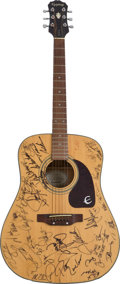 Music Memorabilia:Autographs and Signed Items, Loretta Lynn and Others Autographed Guitar....
