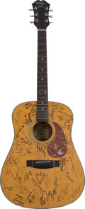 Music Memorabilia:Autographs and Signed Items, Carl Perkins and Others 1987 Country Music Awards Signed Guitar....