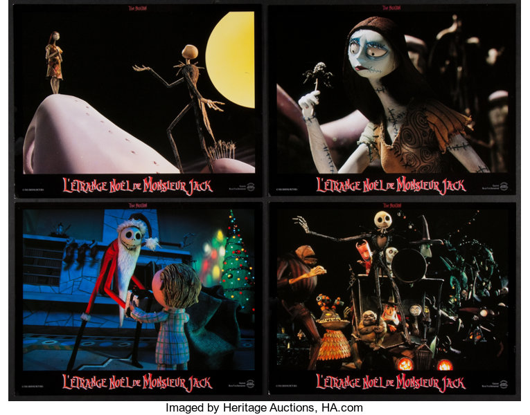 Nightmare Before Christmas In French.The Nightmare Before Christmas Touchstone 1993 French