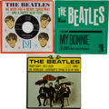 Music Memorabilia:Recordings, 4-By The Beatles EP with Bonus Vee-Jay and MGM 45s andSleeves (1964).... (Total: 3 Items)