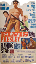 "Movie/TV Memorabilia:Posters, Elvis Presley ""Flaming Star"" Die-Cut Lobby Display (1960). ..."