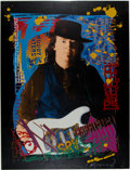 Music Memorabilia:Posters, Stevie Ray Vaughan Double Trouble Limited Edition Artist's ProofPoster #6/25 (Mirage Editions, 1992)....
