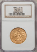 Liberty Eagles: , 1892 $10 MS62 NGC. NGC Census: (2843/663). PCGS Population(1252/242). Mintage: 797,400. Numismedia Wsl. Price for problem ...