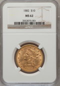 Liberty Eagles: , 1882 $10 MS62 NGC. NGC Census: (3705/777). PCGS Population(1889/354). Mintage: 2,324,480. Numismedia Wsl. Price for proble...