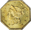 California Fractional Gold: , 1853 $1 Liberty Octagonal 1 Dollar, BG-531, R.4, MS63 PCGS. Aflashy honey-gold example that possesses an occasional blush ...