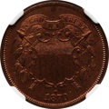 Proof Two Cent Pieces: , 1870 2C PR64 Brown NGC. NGC Census: (18/17). PCGS Population(20/3). Mintage: 1,000. Numismedia Wsl. Price for problem free...