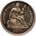 Proof Seated Half Dimes: , 1870 H10C PR64 PCGS. PCGS Population (38/33). NGC Census: (44/57).Mintage: 1,000. Numismedia Wsl. Price for problem free N...