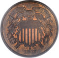 Two Cent Pieces, 1872 2C MS64 Red and Brown PCGS....