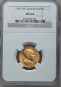Vatican City, Vatican City: Pius XII - Trio of NGC Certified gold 100 Lire,...(Total: 3 coins)