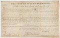 Autographs:U.S. Presidents, John Quincy Adams as President Signed Land Grant...