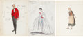 """Movie/TV Memorabilia:Memorabilia, A Jerry Lewis and Others Group of Costume Design Sketches from""""Cinderfella.""""... (Total: 13 Items)"""