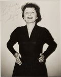Movie/TV Memorabilia:Autographs and Signed Items, An Edith Piaf Signed Photograph....