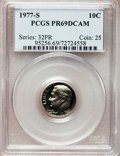 Proof Roosevelt Dimes: , 1977-S 10C PR69 Deep Cameo PCGS. PCGS Population (3966/197). NGCCensus: (233/20). Numismedia Wsl. Price for problem free ...