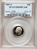 Proof Roosevelt Dimes: , 1987-S 10C PR69 Deep Cameo PCGS. PCGS Population (2734/119). NGCCensus: (369/108). Numismedia Wsl. Price for problem free...