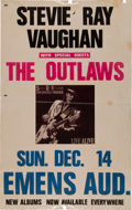 Music Memorabilia:Posters, Stevie Ray Vaughan/the Outlaws Emens Auditorium Concert Poster(1986)....