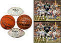 Miscellaneous Collectibles:General, Football and Basketball Stars Signed Memorabilia Lot....