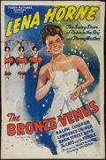 "Movie Posters:Black Films, The Bronze Venus (Toddy Pictures, 1945). One Sheet (27"" X 41"").Black Films.. ..."