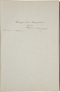 Autographs:U.S. Presidents, Grover Cleveland Inscribed Copy of The Public Papers of GroverCleveland as President....