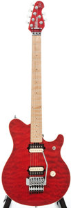 Musical Instruments:Electric Guitars, 1994 Ernie Ball EVH Red Solid Body Electric Guitar, #87071....