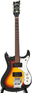Musical Instruments:Electric Guitars, 1960s Mosrite Ventures Sunburst Solid Body Electric Guitar, #B1465....